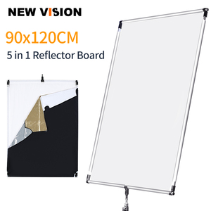 Image 1 - 90 x 120cm 35in x  47in Sun Scrim Large 5in1 Black Silver Gold White Diffuser Reflector Aluminum Alloy Frame for Photography