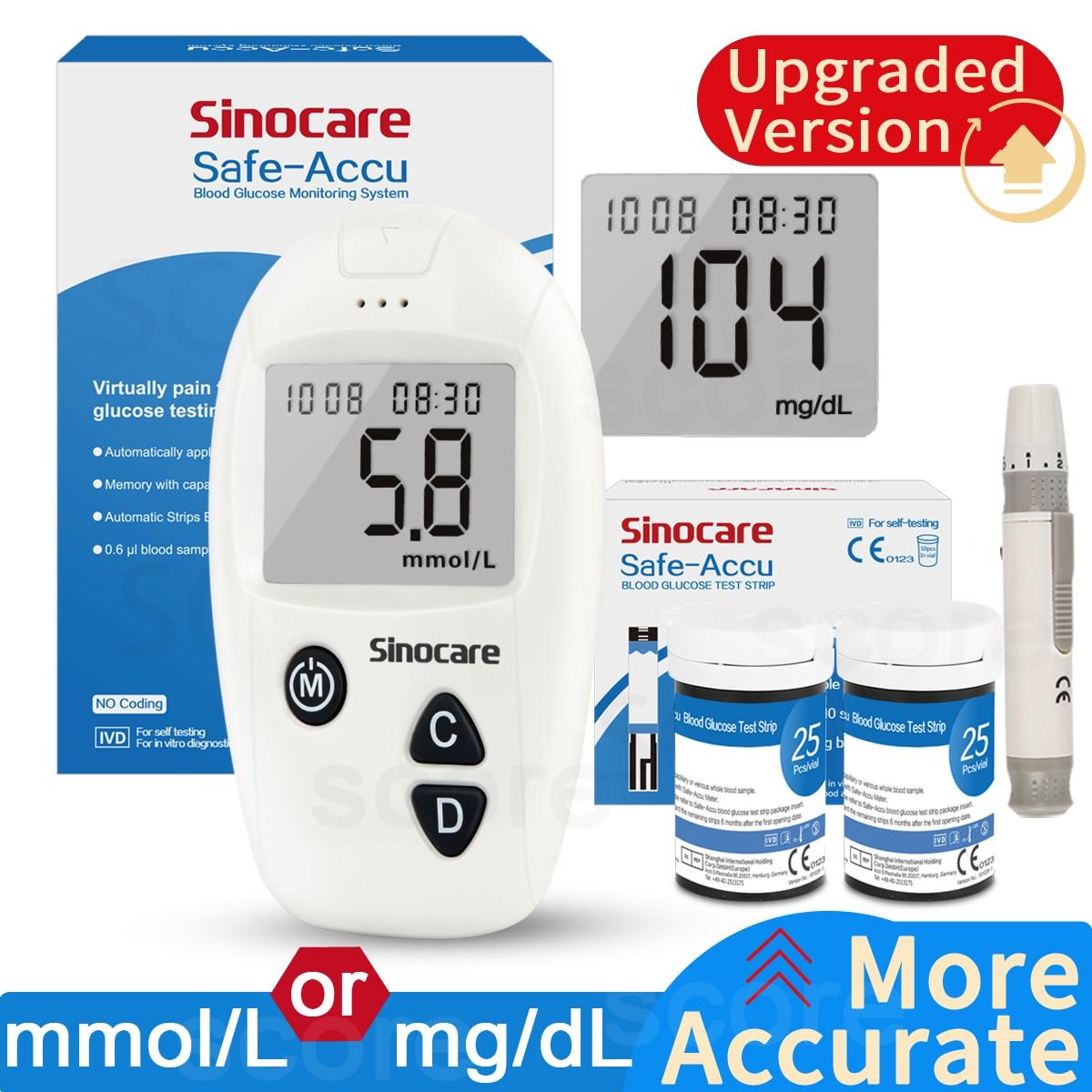 Accu blood glucose meter & Test Strips & Lancets 50/100pcs Glucometer kit Diabetic Blood Sugar meter Diabetes Tester(China)