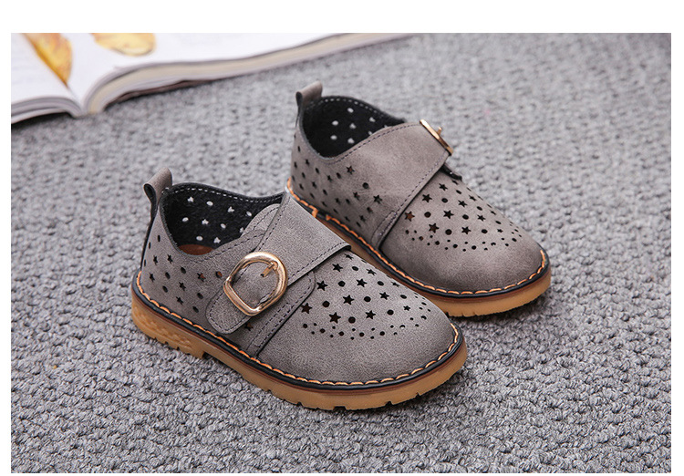 Summer Children Shoes PU Leather Sport Shoes Buckle Strap Child Casual Kids Shoes For Girls Cut-Outs Martin Baby Boys Sneakers 15