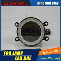 Car Styling Angel Eye Fog Lamp for Peugeot 206 LED DRL Daytime Running Light High Low Beam Fog Automobile Accessories