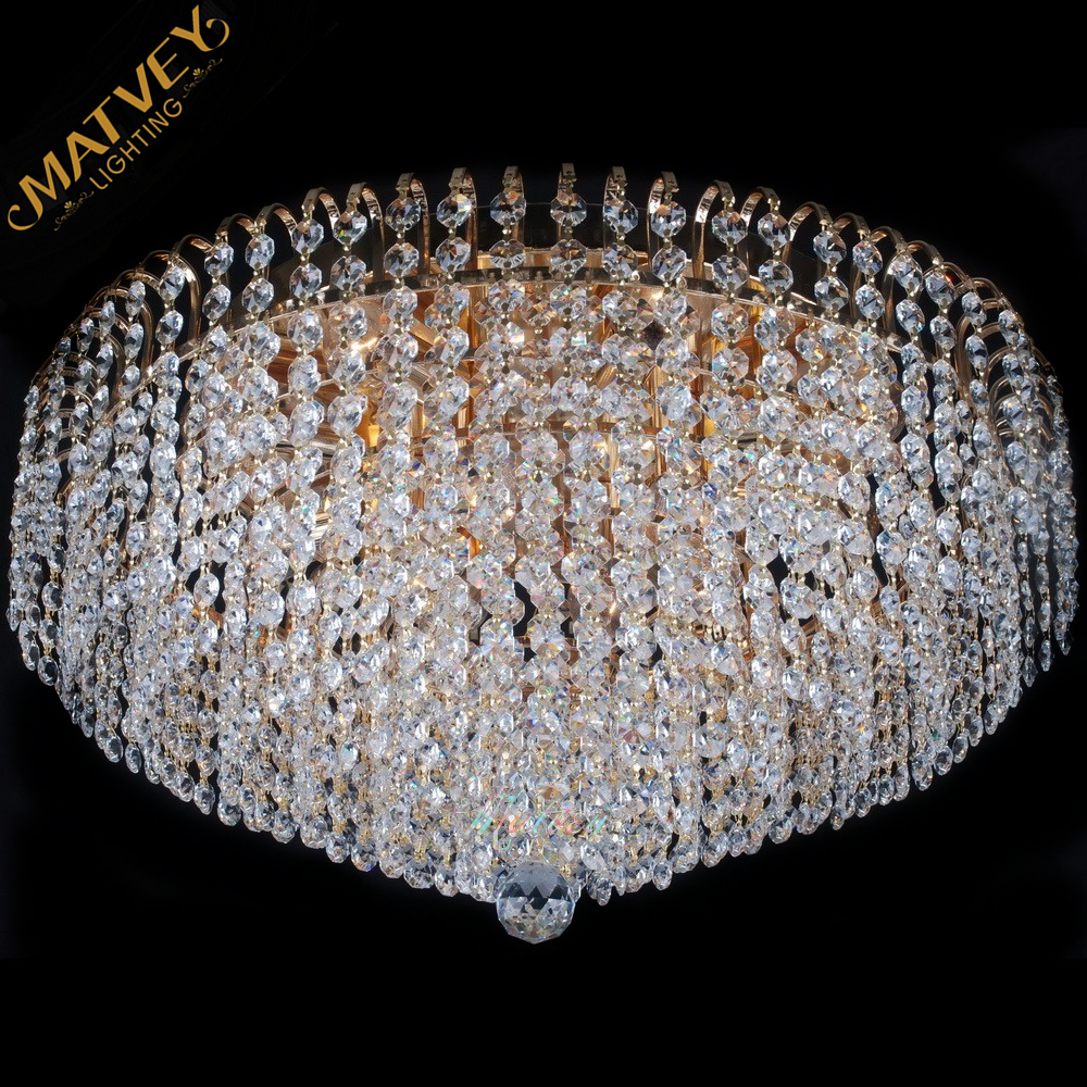 Modern crystal ceiling lamp ,  K9 crystal, in stock, quick delivery