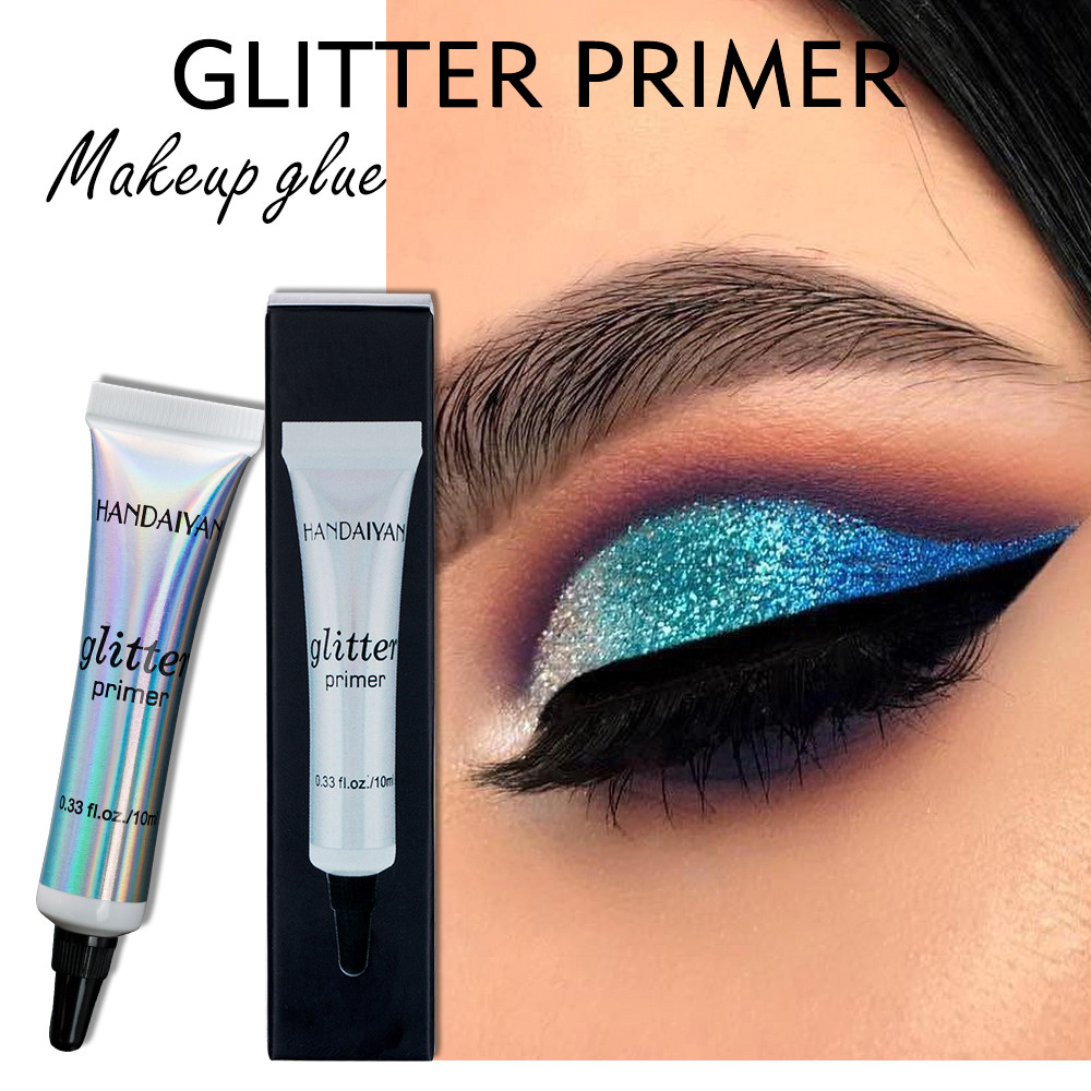 HANDAIYAN Glitter Eyeshadow Primer Sequined Primer Eye Makeup Cream Moisturizing Eye Foundation Glitter Eyeshadow Glue Comestic