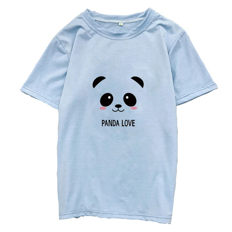 100% Cotton Casual Lovely Panda Women T Shirt Korean Harajuku Summer Female T-shirt Modis Aesthetic Kawaii Vintage Tee Shirts
