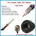 20 Metros Negro 50ohm 50-5 Ultra Baja Pérdida de Cable Coaxial para la Conexión de Teléfono Celular Amplificador de Señal Divisor de Potencia o antena