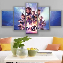 Movie Avengers Endgame Hero Character warrior 5 Piece Wall Art Picture Home Decoration For Living Room HD Print Canvas Painting