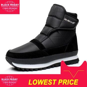 Mężczyźni buty zimowe buty mężczyźni botki Wodoodporne antypoślizgowe ciepłe pluszowe płaskie mężczyźni śnieg buty duży rozmiar 39 -45