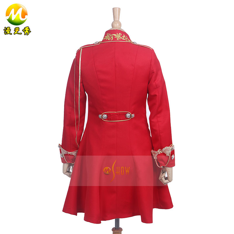 Horror Movie Winter's Lament Cosplay Costumes Sweet Lolita Coat Jacket For Lady Women Embroidery Rose Medal Halloween Apparel