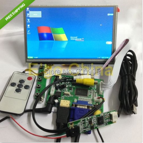 7 1024*600 LCD Module Display + HDMI/VGA/2AV Board + Touch Panel w/ Controller7 1024*600 LCD Module Display + HDMI/VGA/2AV Board + Touch Panel w/ Controller