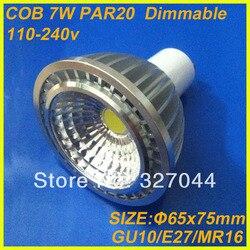 10 sztuk FREE DROP gu10 700 lm 7W PAR20 żarówki lampy COB LED żarówka fajne białe ciepłe białe Spot lampa świecąca W dół AC 85 265V w Reflektory LED od Lampy i oświetlenie na