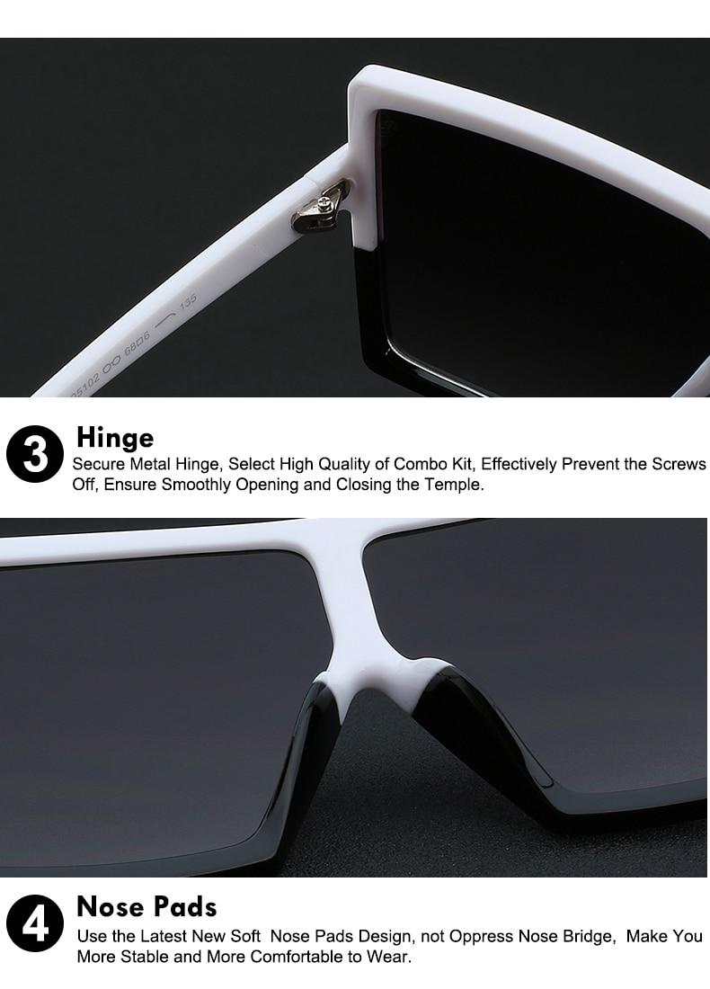 Vintage Sunglasses Big Oculos UV400