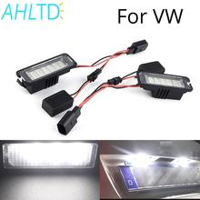 2X Auto LED Number License Plate Light for VWGOLF 4 5 6 7 Car Lamp Kit DC 12V Canbus Error Free Fog Car-Styling