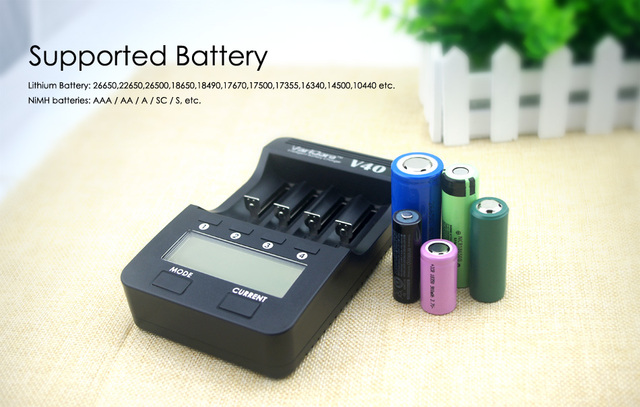 New VariCore V40 LCD Battery Charger for 3.7V 18650 26650 18500 16340 14500 18350 Lithium battery 1.2V AA / AAA NiMH batteries