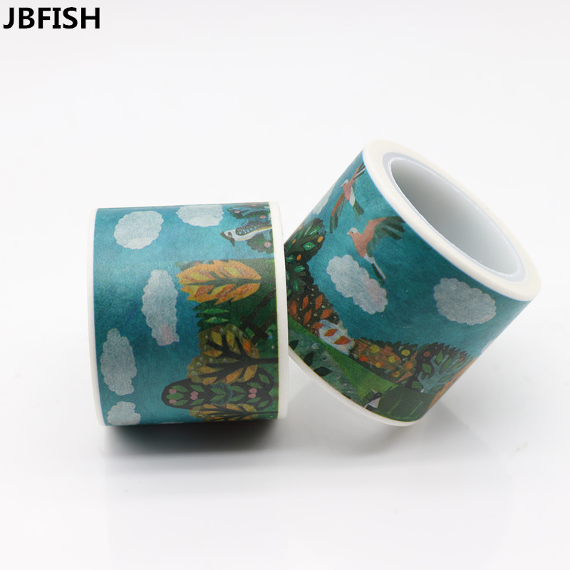 JBFISH Blue Sky White Cloud Decorative Tapes Washi Paper Masking Tape DIY Deco Scrapbooking Stickers Diary Sticker Photo 9022