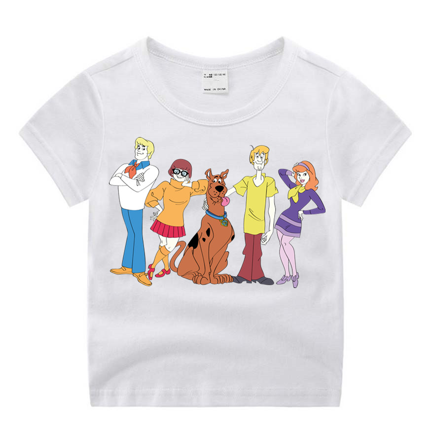 Baby Boy Clothes  Movie Scooby Doo  Funny Cartoon Print T-shirt Kids Summer O-Neck Tops Boys & Girls Tshirt  Baby Clothes