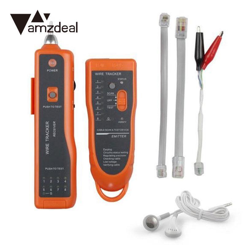 Amzdeal Многофункциональный RJ11 Cat5 Tracker сетевой кабель тестер детектор линии finder костюм высокое качество