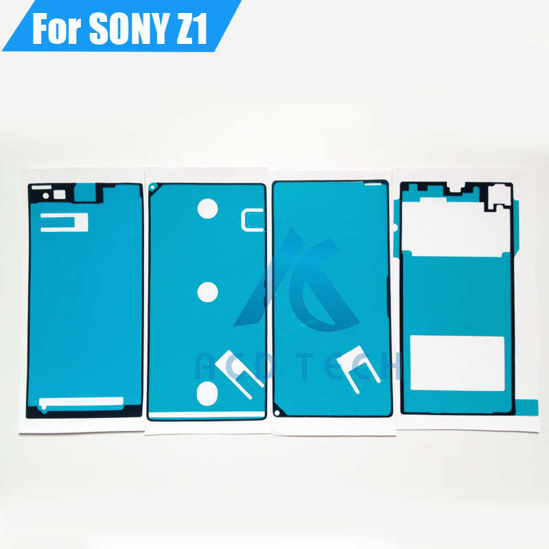 High Quality New Front LCD Middle Frame Battery Cover Full Set Adhesive Waterproof Sticker for Sony Xperia Z1 L39H C6903