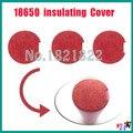 10 pcs/alot 18650 isolante tampa tampa tampa de proteção da bateria vermelho