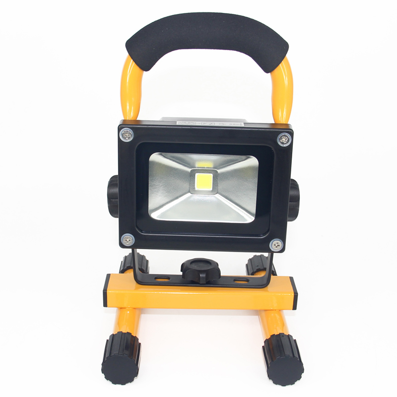 10W Portable LED Flood light Work Emergency Lamp Rechargeable battery floodlight Spotlight for Outdoor Camping Hunting Fishing cob led flood light dimmable 100w portable led floodlight cordless work light rechargeable spot outdoor working camping lamp