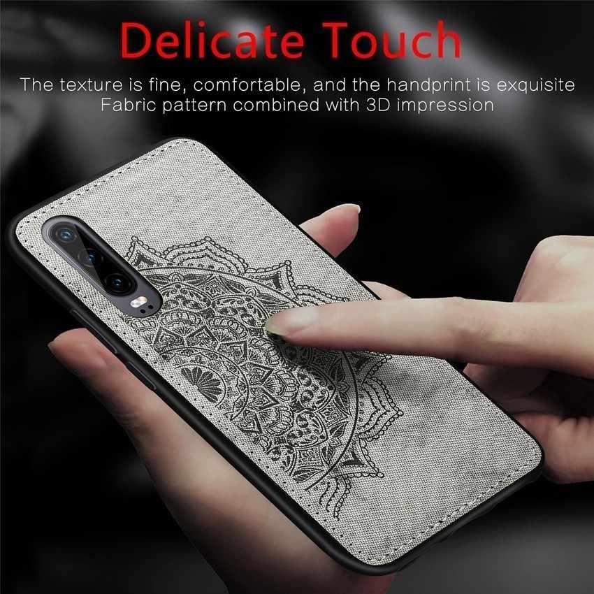 Новый Модный деловой чехол для телефона из искусственной кожи с изображением мандалы и цветов для huawei P30 Pro, мягкий резиновый чехол для huawei Y5 2018 Y6 Y7 Pro Prime