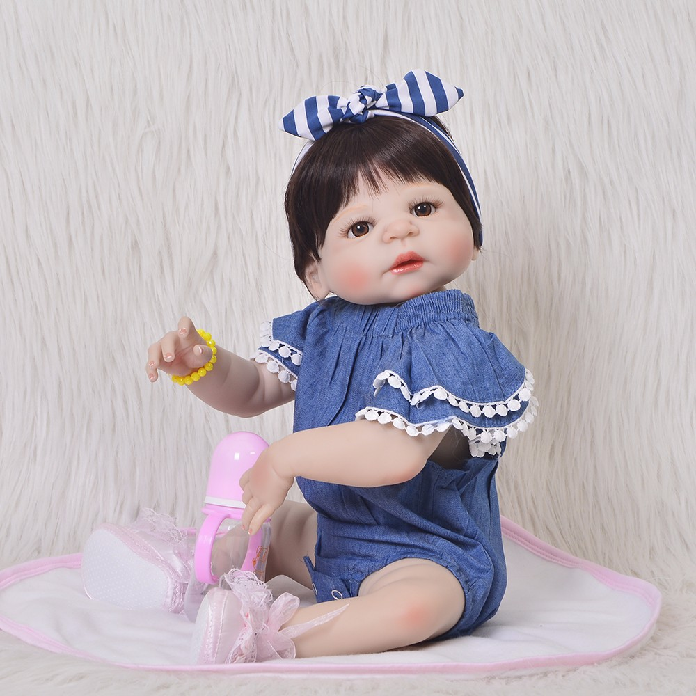 Reborn Baby Doll Bebes 57cm Handmade Silicone Realistic Baby Dolls Christmas Gifts Boy Girl Gifts Adorable