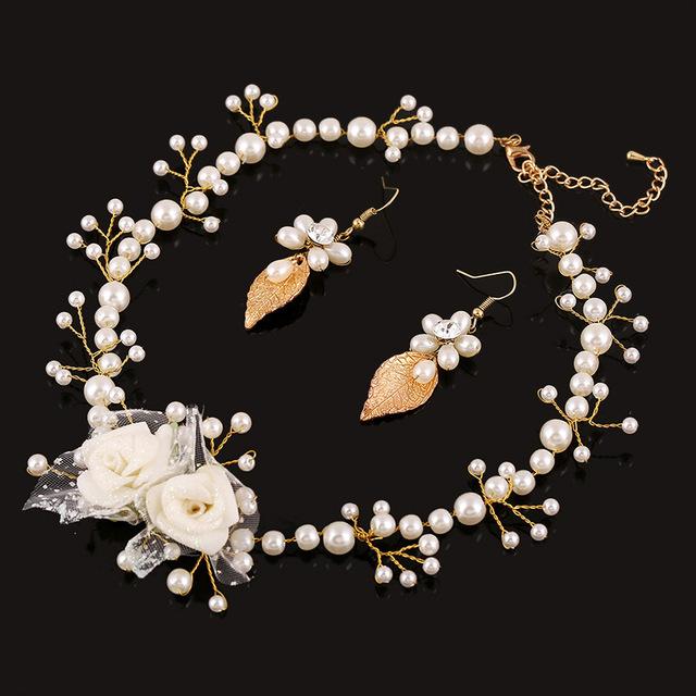 Compromiso joyería de La Boda Cristalina de Lujo de la joyería Nupcial conjuntos de Collar hecho a mano accesorios de la boda Pendiente