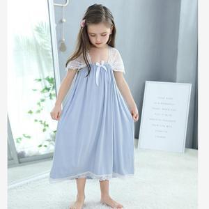 Детская Ночная рубашка без рукавов, винтажная ночная рубашка для девочек, одежда для сна, Y825, на лето, 2019