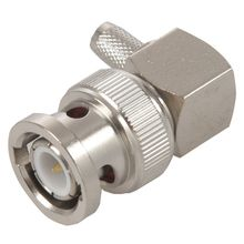 BNC Male Plug Right Angle Crimp for RG58 RG400 RFC195 RF Coax Adapter connector,silver
