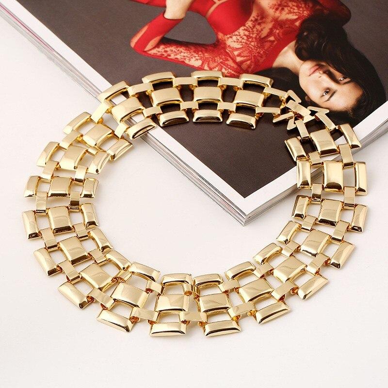 5 Designs Big Chunky Metal Statement Choker Necklace - Jn32*