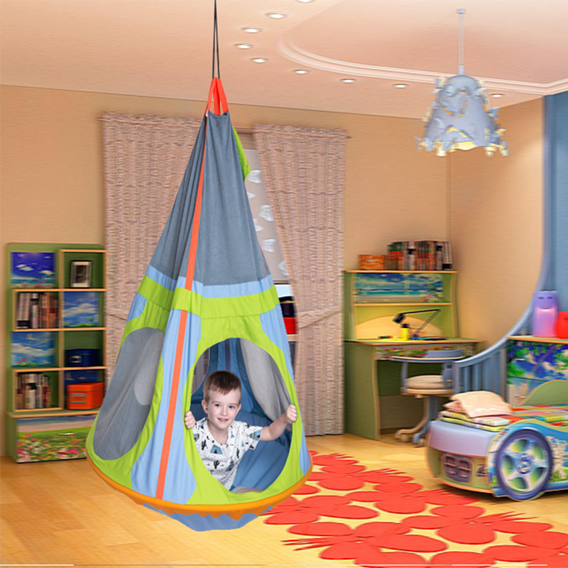 Large Space Design 95cm Diameter Iron Ring Support Children Hammock Garden Furniture Swing Chair Indoor Outdoor Hanging Seat
