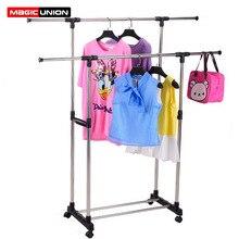 Magic Union spinacze do prania ze stali nierdzewnej zestaw podłogowa stojąca podnoszenie fajne spinacze do prania balkon kryty wielofunkcyjny wieszak na ubrania