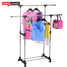 União mágica conjunto de rack de secagem de aço inoxidável piso de pé levantamento legal secagem rack varanda interior multi função cabide de roupas