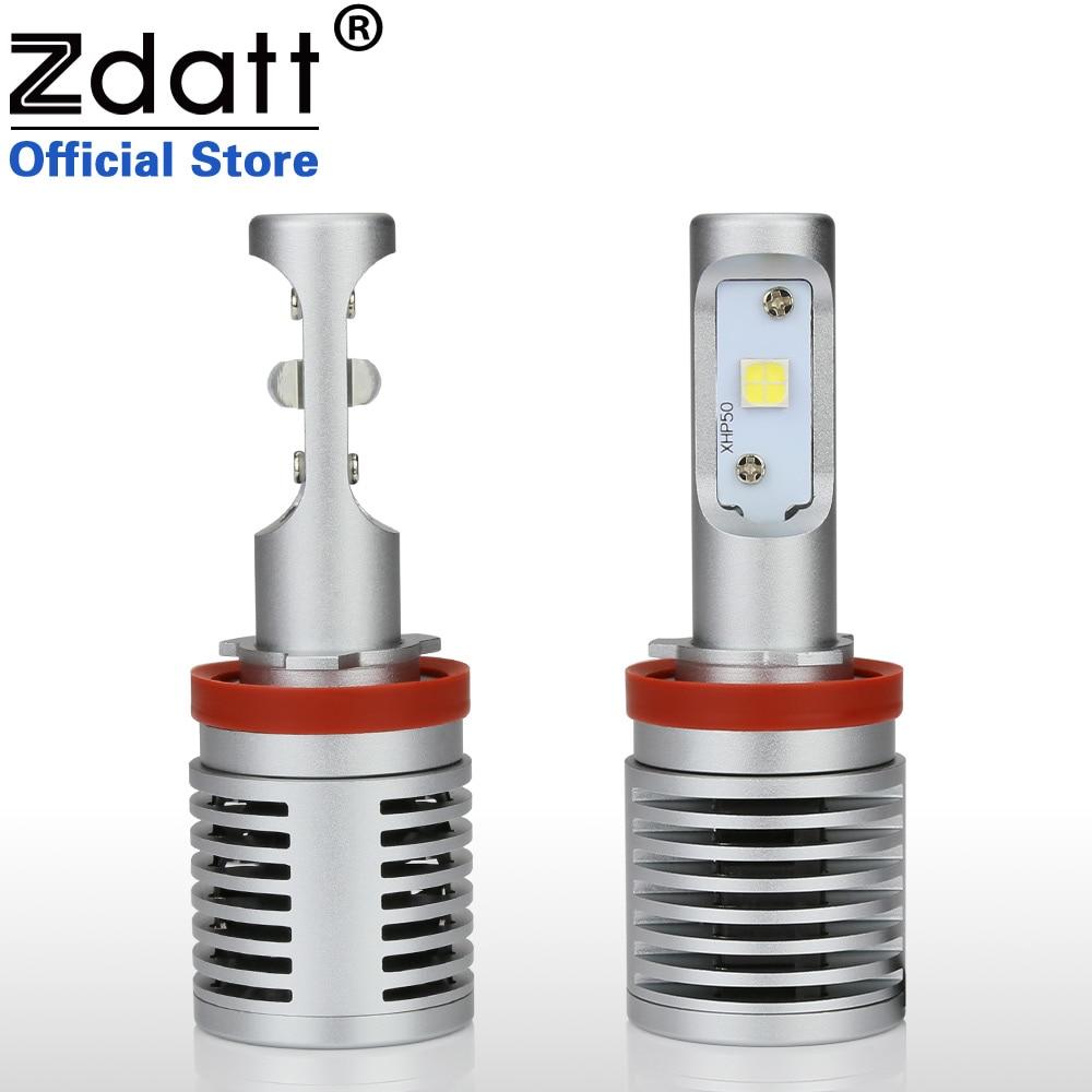 Zdatt высокие 2шт Н11 Мощность Светодиодные лампы XPH50 100Вт 14600LM авто фары светодиодный свет для автомобилей противотуманной фары 6000K Белый автомобилей 12V