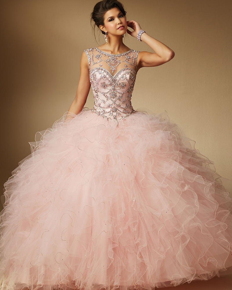 2502c7790b0 Provence Girl Flavour Elegant Chic Shiny Crystal Pink Quinceanera Dress  2016 Vestidos de 15 Debutante Gowns Abendkleider-in Quinceanera Dresses  from ...