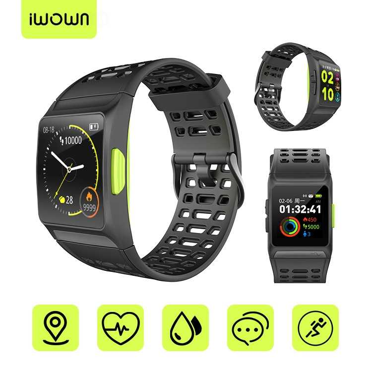 iwown P1 Smart Watch Heart Rate ECG detection HRV analysis built-in GPS IPS color screen Multiple sports modes Bracelet