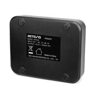 Image 5 - Retevis rtc22 carregador de seis vias para retevis rt22/rt22s/rb19 rádio em dois sentidos walkie talkie carregador para hotel/restaurante/supermercado