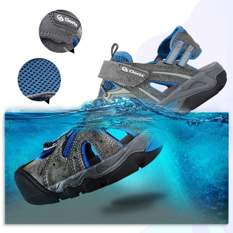 Clorts мужская пляжная обувь быстросохнущие кроссовки дышащие сандалии для плавания Быстросохнущие кроссовки SD-207C