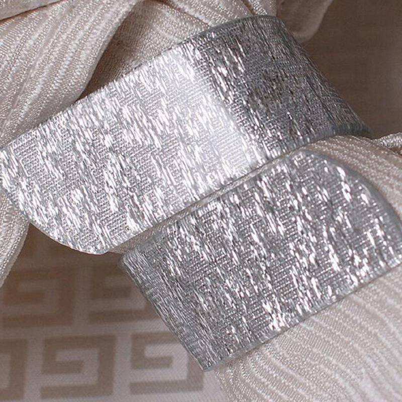 Sterling crystal gold and silver napkin ring decoration napkin holder for wedding party table decoration