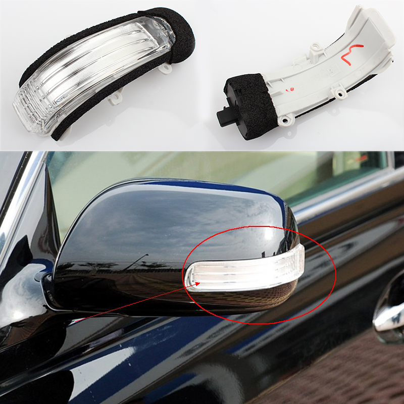 Car LED Rear view Side Mirror Light Lamp FOR TOYOTA COROLLA ,AURIS,REIZ,SCION,PASSO,BLADE,MARK X,ISIS,KUKUS,ZELAS Right & Left cafoucs led rearview side mirror turn signal lights mirror lamp for toyota prius reiz wish mark x crown avalon