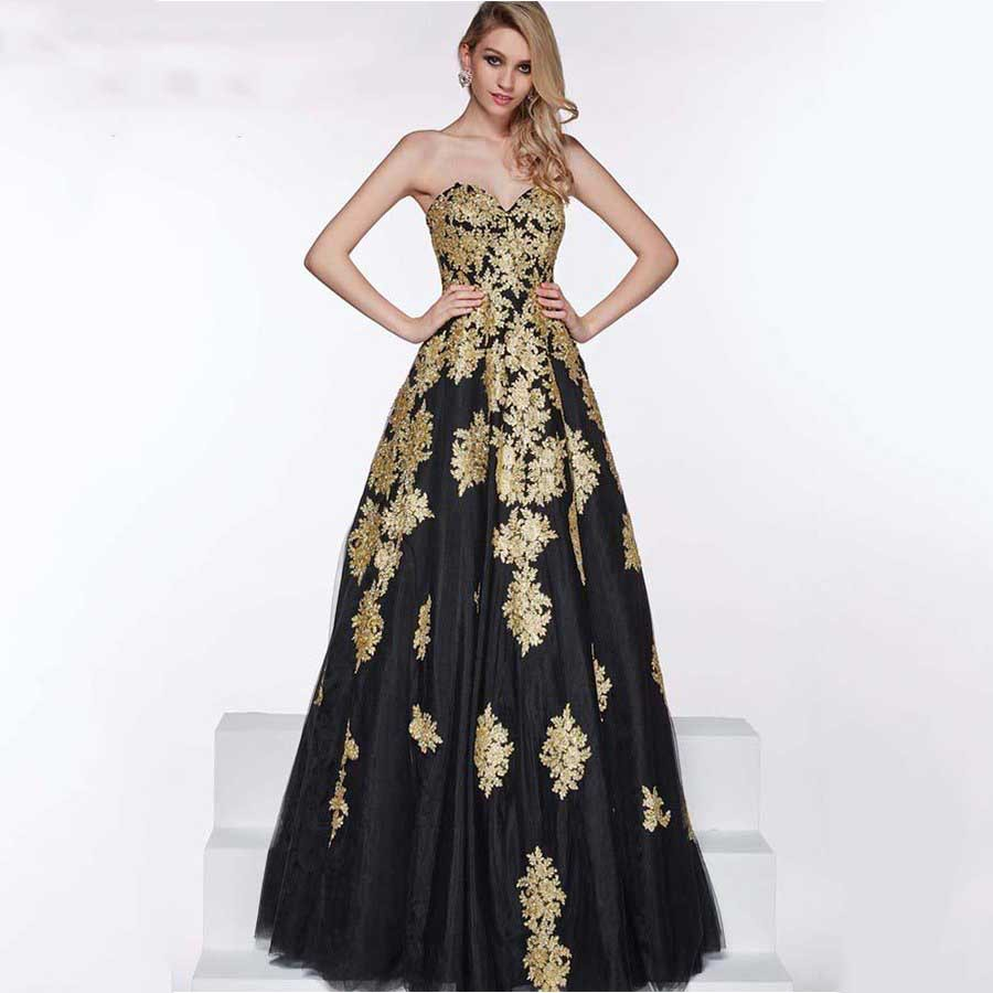 b7b8022b13a Plus Size Fashion Maternity Black Evening Dresses 2015 Lace Gold Applique  Puffy Sexy Special Occasion Dress for Pregnant Women