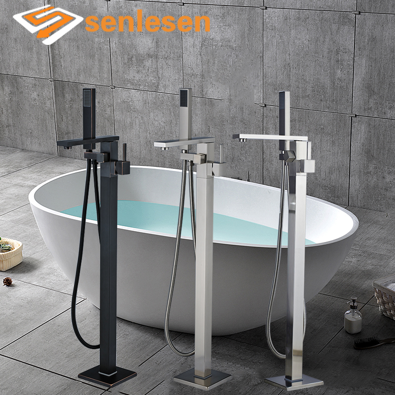 Оптом и в розницу ванная комната свободно стоящий кран Одной ручкой холодной горячей смесителя Смесители для ванной