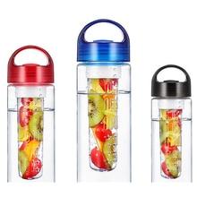 700 ml botella de agua infusor fruta infusión de carne de salud lemon flip tapa ciclismo bicicleta al aire libre recorrido que acampa de desintoxicación jugo de frutas taza