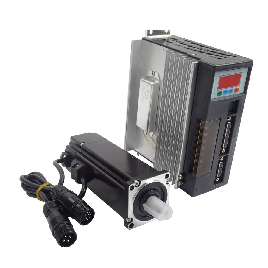 1Set High Quality 60ST-M01930 AC Servo Motor 1.91N.M 600W 3000RPM 60ST with Driver System best price great quality servo system kit 1 27n m 0 4kw 3000rpm 60st ac servo motor 60st m01330 matched servo driver
