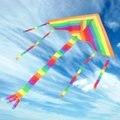 Triângulo arco Pipa Voando Brinquedo do Miúdo Presentes Diversão Ao Ar Livre Esportes de Ar Voar Pipas Coloridas Crianças Triângulo Cor Pipa Fácil de Voar