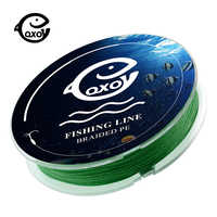 QXO 100m 4 x8 strand Fishing Line Braided Wire Strong PE Multifilament Kevlar Tippet Goods For Fishing Materials Monofilament