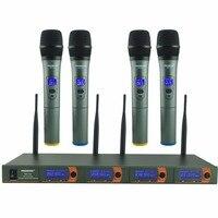 FREEBOSS FB V04 профессиональные микрофоны, KTV вечерние Mic Системы 4 ручной Беспроводной караоке микрофон