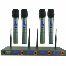 Freeboss FB V04 Professionele Microfoons Vhf Ktv Party Mic System 4 Handheld Draadloze Karaoke Microfoon