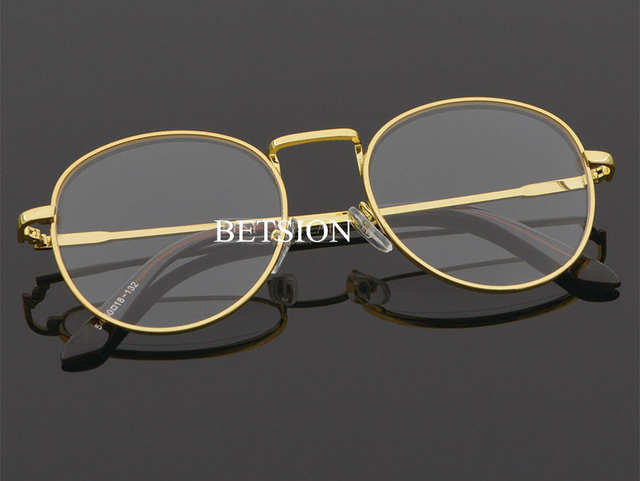 08c39d271b Retro Fashion Myopia NEARSIGHTED Distance Metal Gold Eyeglass Frame Minus  GLASSES -1.0 -1.25 -