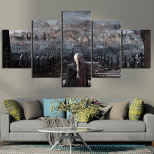 5 Piece The Iron Thrones Artwork Paintings Fantasy Art Game of Movie Poster Canvas Wall Home Decor