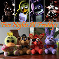 Newest 4 pcs/lot  FNAF Five Nights At Freddy's FREDDY & FOXY & Bonnie &Chica Mini Plush Toy 15 Cm Doll Pendant Birthday Gift