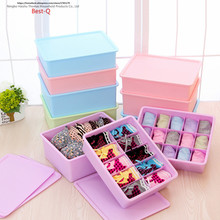 Free shipping storage box, plastic bra, underpants, socks, storing things, drawer type storage case, thickening cover